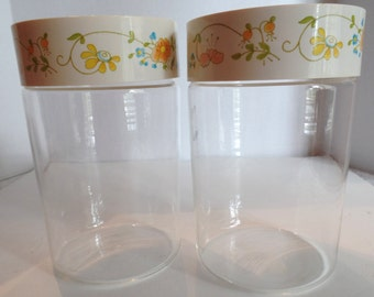 Pyrex Wildflowers vintage  Stack and Store canister set