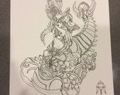 Desert Queen Zagara Digital Art Print