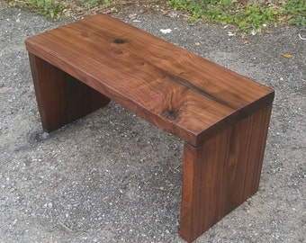 Black Walnut Contemporary Style Bench