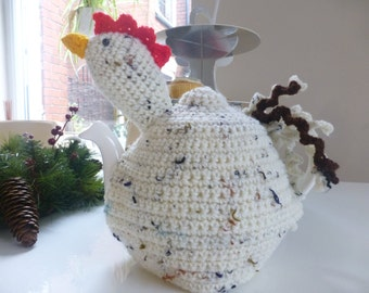 Hand crocheted chicken tea cosy / cozy