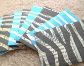 Animal Print Handmade Envelopes - Business Card or Gift Card Size (8)