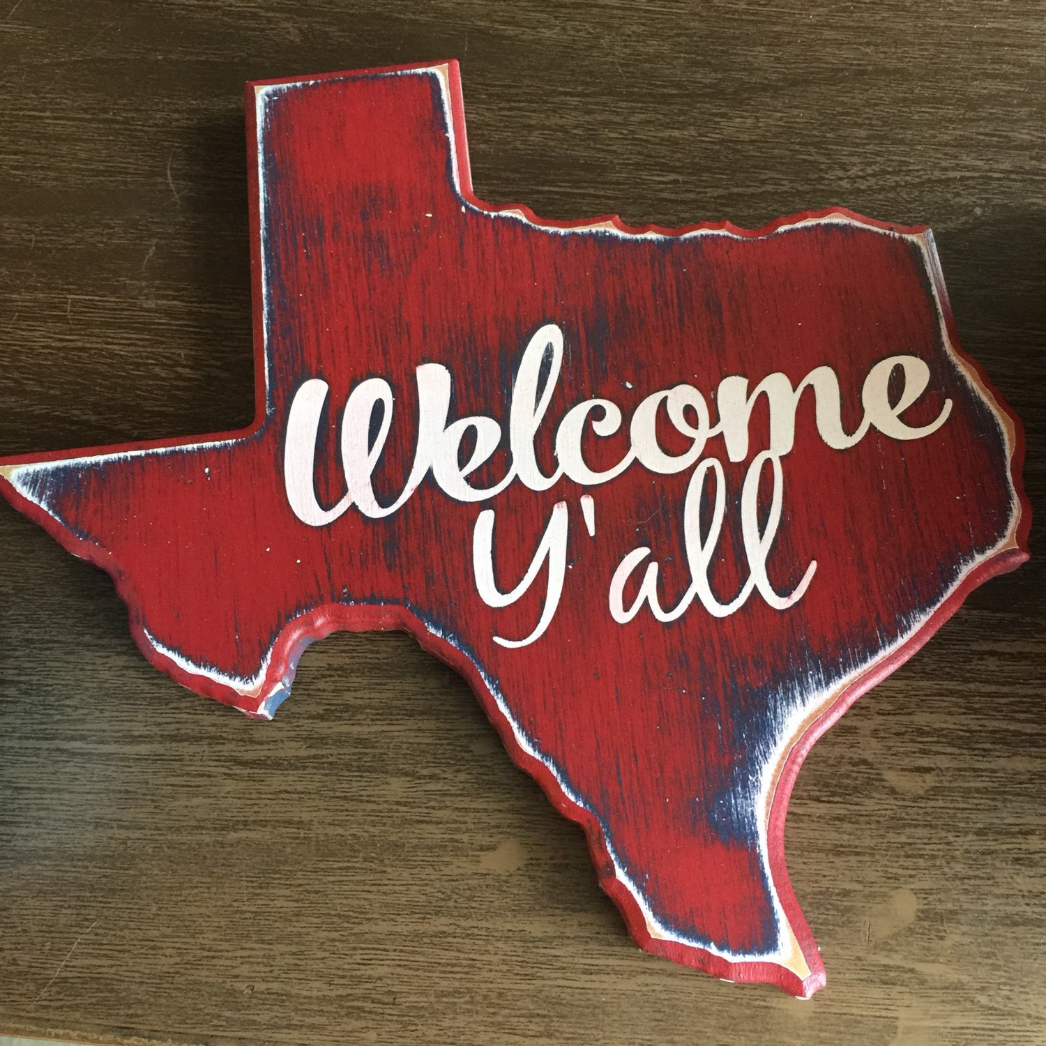 Welcome Y 39 All Wooden Texas Decor Harvey Relief