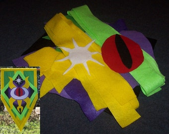 World of Warcraft - Darkmoon Faire Banner DIY Kit with Pattern Pieces You Assemble - Tapestry - WoW Prop - Choice of Variation