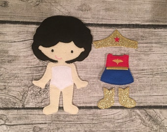 NonPaper Doll Wonder Woman DOLL ONLY