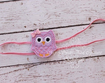 Who's Woo- Lavender & Pink Owl Headband - Owl Headband - Baby Girl Headband - Baby Headband - Newborn Headband - Infant Headband