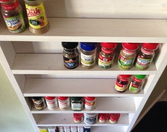 Tall white wash Spice Rack