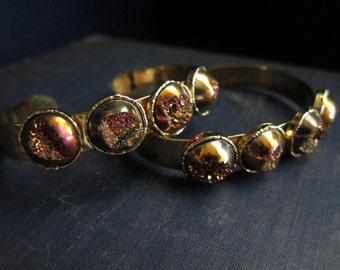 Geode Bracelet,Druzy Bracelet,Druzy Bracelet Gold,Geode Braclet,Geode Braclet,Raw Stone Bracelet,Druzy Bangle,Geode Jewelry,Druzy Jewelry
