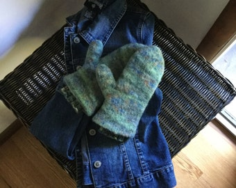 Hand Dyed Felted Mittens