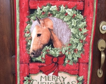 Christmas Equine Wall Hanging