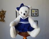 """Lola - Artist Teddy bear, OOAK Mohair Teddy bear 10 """", Alpaca teddy bear"""