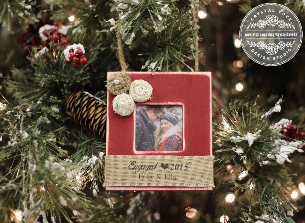 Engaged Christmas Ornament Engagement Gift Party Personalized