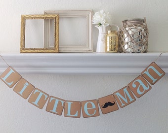 Little Man Baby Shower Oy Birthday Banner