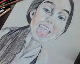 Custom Portrait Colored Pencil