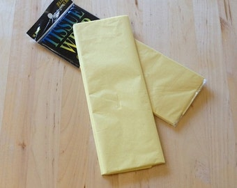 Primrose Yellow Tissue Paper - 10 Sheets - Gift Wrap - Craft and Party Supplies