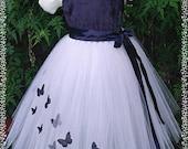 special occasion butterfly tutu dress . flowergirl  wedding