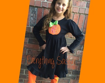Halloween Dress and Ruffle Pants