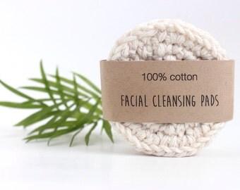 100% Cotton Reusable Facial Cleansing Pads