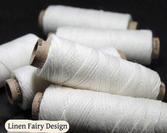 5/10 Spools Linen Threads White hand & machine quilting sewing craft lace jewelry