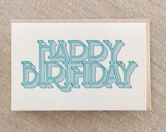 Birthday Type Shaded