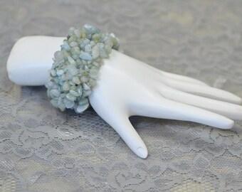Vintage Blue Quartz Stretch Bracelet