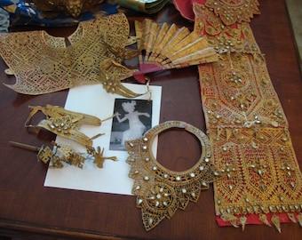 Stunning Complete Vintage Opulent Court Dress  Siam/Thailand 1950s