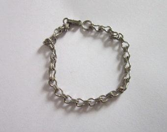 Vintage Designer Sarah Coventry Silver Tone Charm Bracelet