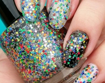 Holo Star Sprinkles hand crafted artisan nail polish