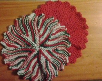 CHRISTMAS DISH CLOTHS - set of (2)
