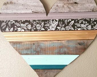 Rustic Wooden Heart Handmade Wall Decor
