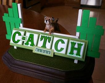 Custom MACH , C-ATCH , PACH Agility Dog Sculpture Using Your Photos