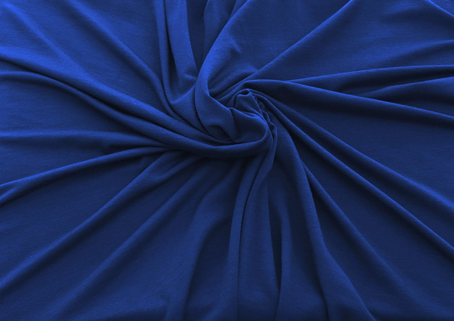 True blue bamboo spandex fabric jersey knit by the yard 59 for Lycra fabric