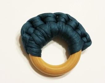 Natural Baby Teething Rings - Deep Sea Blue