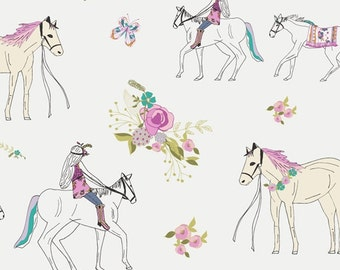 Baby Bedding Crib Bedding - Horse Riding, Equestrian, Floral