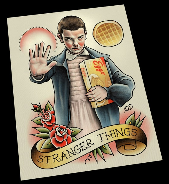 Eleven stranger things tattoo art print for Eleven tattoo stranger things