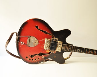 1960's Orfeus Electric Guitar - Semi Acoustic - Bulgarian USSR Electric Guitar