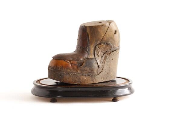 Antique club foot shoe last - Vintage Shoe Mold - Medical ...  Antique club fo...
