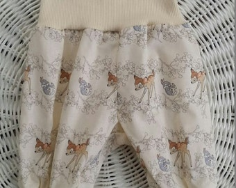 Bambi Harem Pants, available in sizes newborn to 12 months.  Baby Harem pants, Infant pants, baby shower gift,.