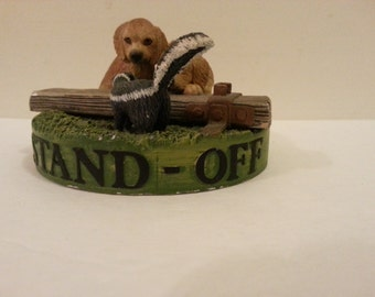 """1994 First Encounter Series """"Stand-Off"""" Figurine - Solid Pewter - hand painted in England"""