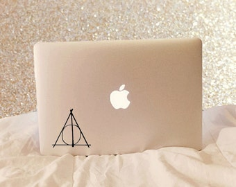 Deathly Hallows Symbol - Laptop Decal - Macbook Decal - Laptop Sticker - Macbook Sticker - Car Decal - Car Sticker - Harry Potter Decal