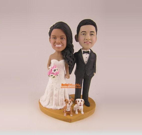 wedding cake topper bobblehead custom cake topper wedding. Black Bedroom Furniture Sets. Home Design Ideas