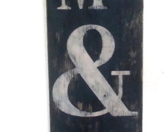 Distressed and antique look Me & you sign/black and white/