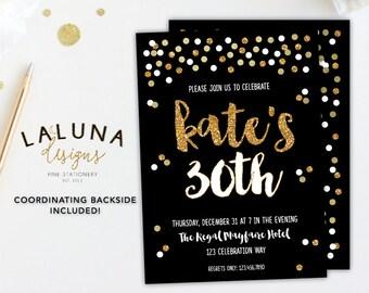 30th Birthday Invitation, 21st Birthday Invitations, 40th Birthday Invitation, Adult Birthday Invitation, Printable Birthday Invitation