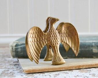 Vintage Brass Eagle Clip - Gold Paper Clip
