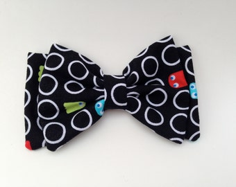 Pac Man Double Bow  READY TO SHIP
