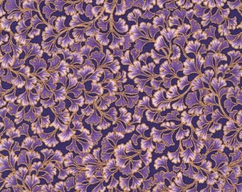 CLOSE OUT SALE Tuscan Wildflower, Purple Leaf with Metallic 154096