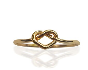 Heart Knot Ring- 14K Yellow Gold-filled
