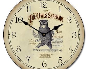 Owl Serenade Clock