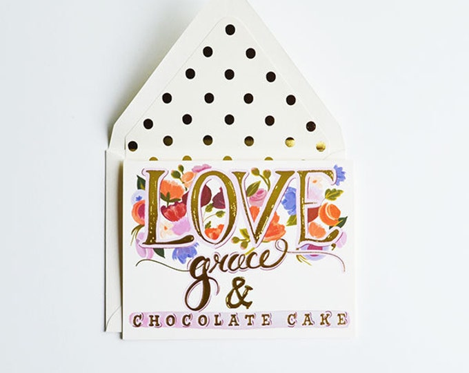 Love Grace & Chocolate Cake Card