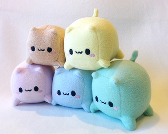 Adorable Cat Loaf Cube Plush toy
