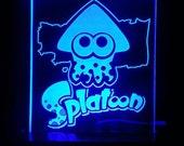 Splatoon squid logo LED display light sign and nightlight